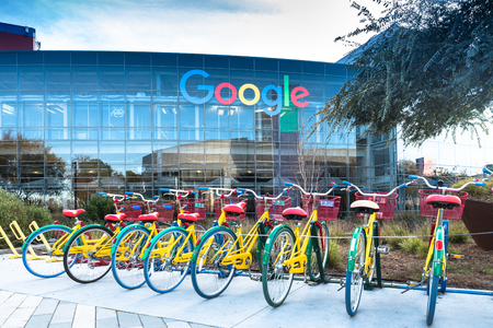 Bikes at Googleplex - Google Headquarters