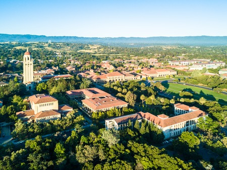 prestigious: Drone view of Stanford University