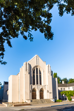 Pioneer Congregational United Church of Christ in Sacramento Stock Photo