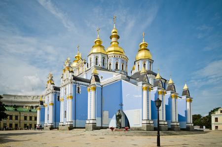 St. Michaels Golden-Domed Monastery in Kiev 写真素材