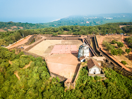Aerial View of Fort Aguada in Goa India Stock Photo