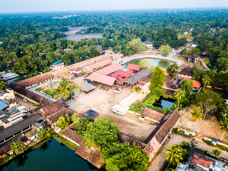 Aerial photo of Sree Krishna Swamy Temple, Ambalappuzha, India