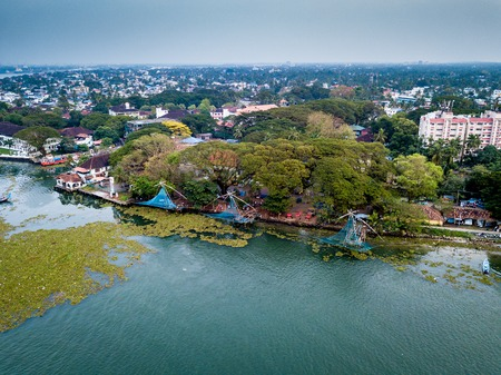 Aerial photo of Kochi in India