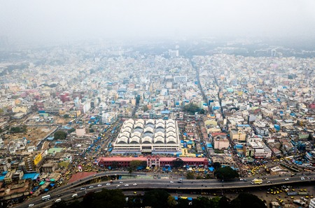 Aerial photo of Bangalore in India