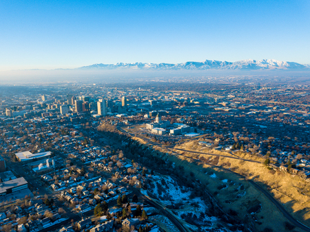 Aerial photo of Salt Lake City Stock Photo