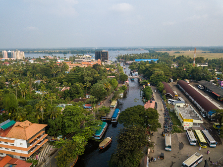Aerial of Alappuzha India