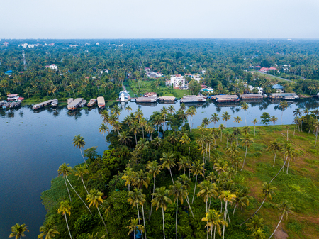 Aerial photo of Alappuzha India Stock Photo