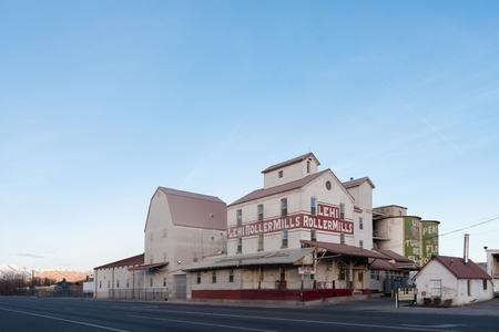Lehi Roller Mills a landmdark in small Utah town Editorial