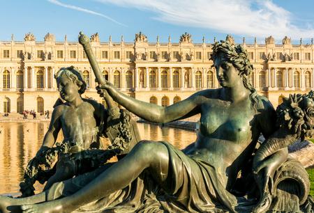 Bronze sculpture in Versailles Palace in Paris