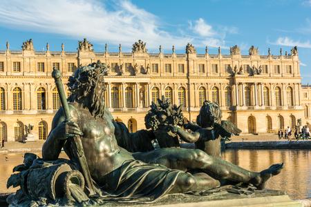 Sculpture of Rhone in Versailles Palace in Paris