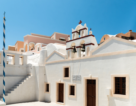 Photo of church in Santorini Stock Photo