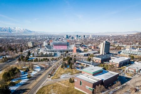 Aerial view of Salt Lake City Utah in the morning Editorial