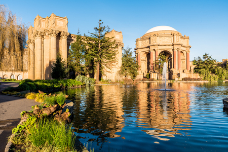 Palace of Fine Arts Theatre in the early morning Stock Photo