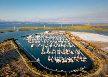 Aerial view of Redwood City port