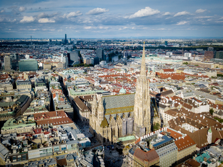View of Vienna in Austria from the air