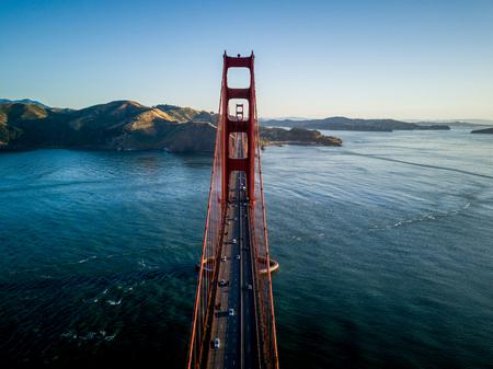 Golden Gate Bridge in San Francisco California from the air
