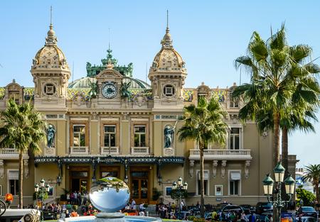 Entrance to The Monte Carlo Casino in the Principality of Monaco Editorial