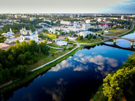 Aerial view of Vitebsk, Belarus Stock Photo