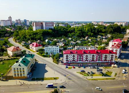 Aerial view of city skyline of Orsha Belarus