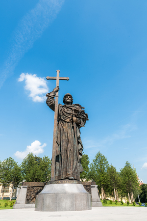Sculpture of prince Vladimir in Moscow Russia