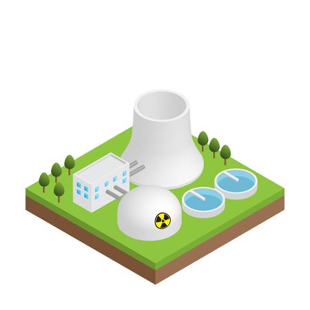 Centrale nucleare nucleare centrale isolato