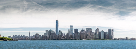 Panorama Lower Manhattan, skyline and urban background, New York City, USA