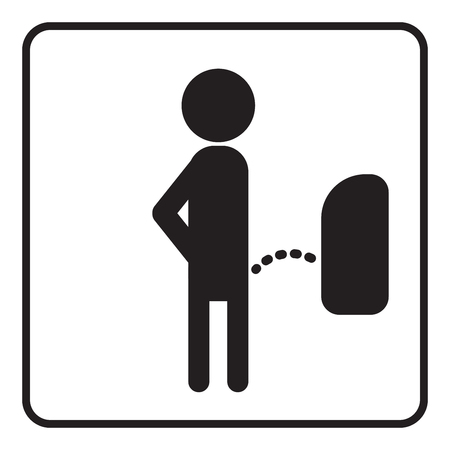 Men toilet simple sign vector isolated