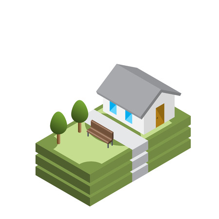Home loan, home for cash concept, isometric vector isolated