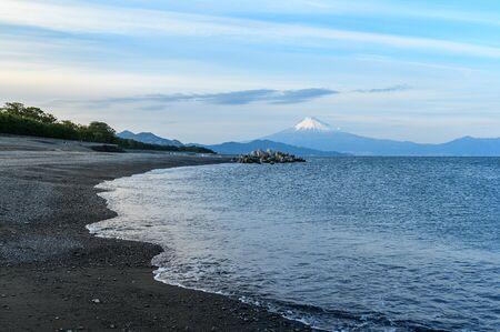 Miho no Matsubara beach with Fuji san background, Shizuoka, Japan