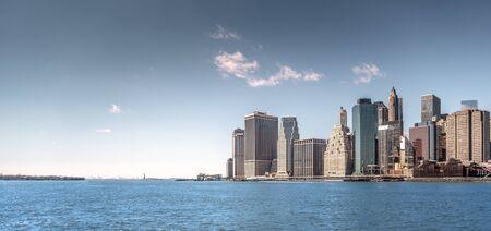Manhattan skyscraper panorama view in New York City, USA