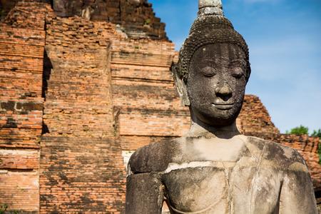 Ancient Buddha at ayutthaya, thailand  photo