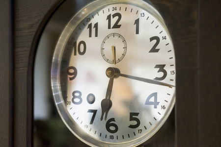 wall clock showing time
