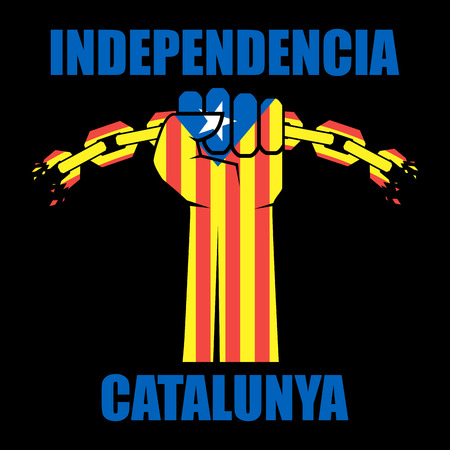 Catalonia independence sign. Vector illustration