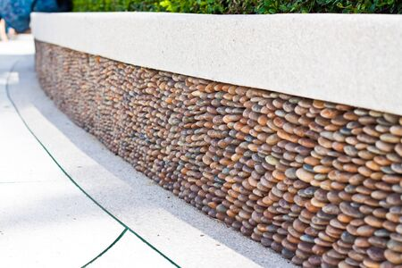 strong foundation: Pattern stone side walk.