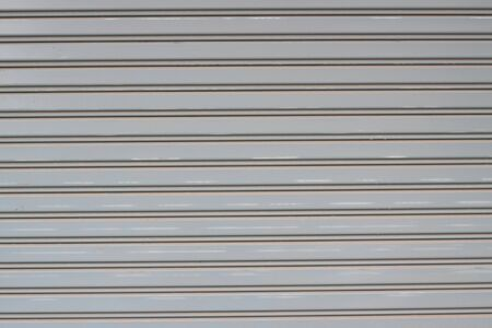 Door shutter with a horizontal pattern photo