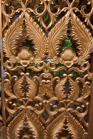 Arts door in Thai temples. photo