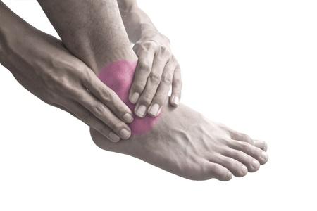 head injury: Ankle pain.