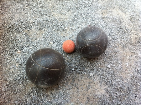 boules: Boules Game Stock Photo