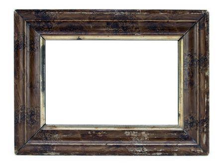 marcos decorados: Foto marco de madera aislado en blanco.