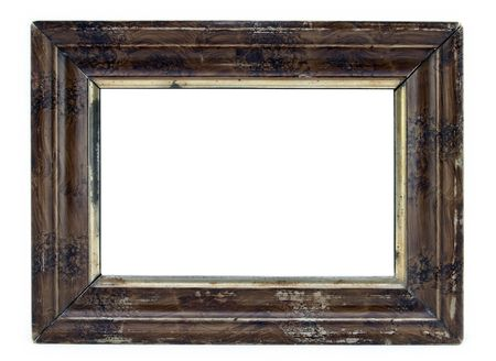 Wooden picture frame isolated on white. photo