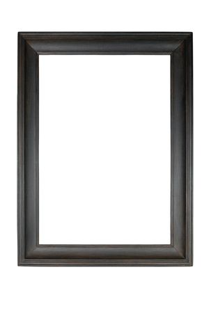 Wooden picture frame isolated on white.