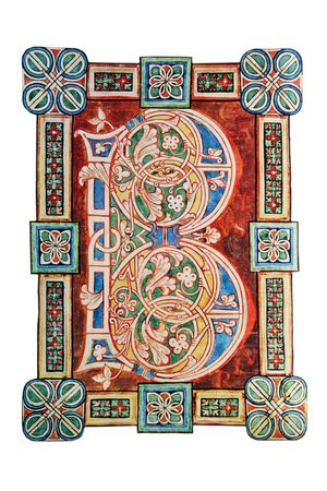 11th century: Ornamental letter B from 11th century