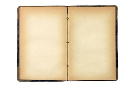 apriva: Apri vecchio libro bianco isolato su bianco
