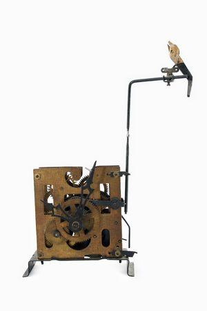 reloj cucu: Reloj de cuco en el fondo blanco