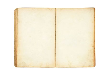 open old blank book isolated on white Stock Photo - 3630392