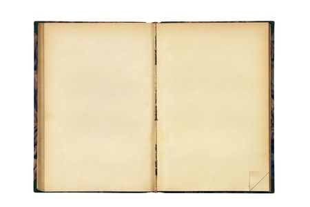 open old blank book isolated on white Stock Photo