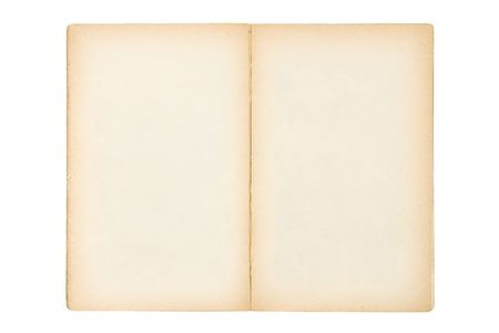 open old blank book isolated on white Stock Photo - 3625872