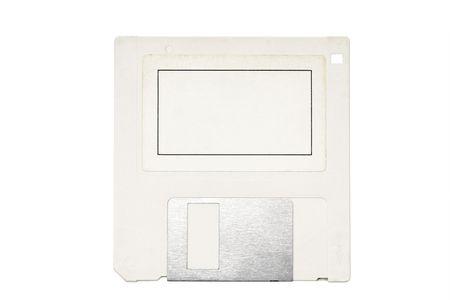 floppy disk: Old floppy disk isolated on white