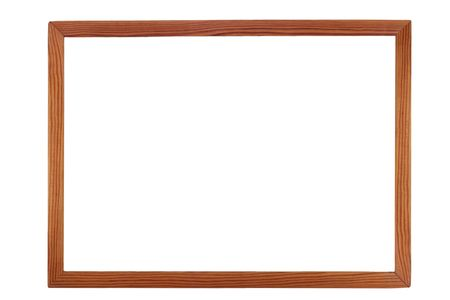 Wooden picture frame Stock Photo
