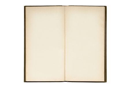 Open blank book photo